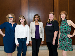 Barb Cook, Liane Holliday-Willey, Dena Gassner, Jennifer Otoole, and Susan Daniels