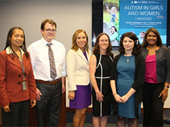 Panel during Autism in Girls and Women meeting
