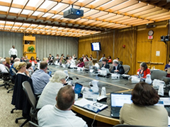 IACC members at a table during an IACC meeting