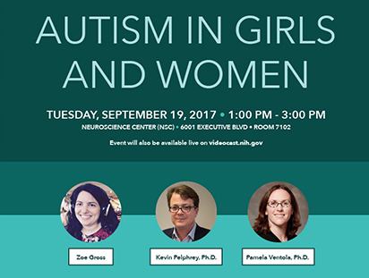 Poster of Autism in Girls and Women Discussion.  Go to the meeting page