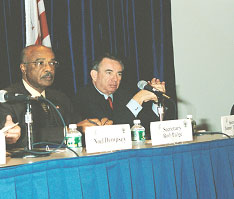 Dr. Rod Paige, Secretary of Education and Tommy Thompson,