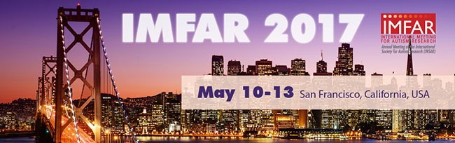 IMFAR meeting poster, which contains city of San Francisco and date of meeting