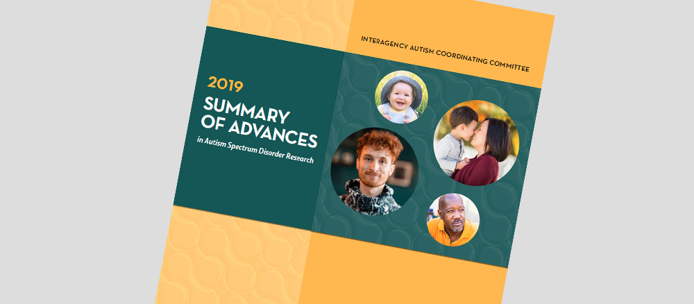 2019 Summary of Advances in Autism Research Cover. Go to publication page